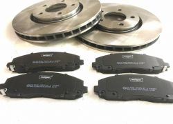 2x Brzdové kotúče + brzdové platničky predné FIAT FREEMONT