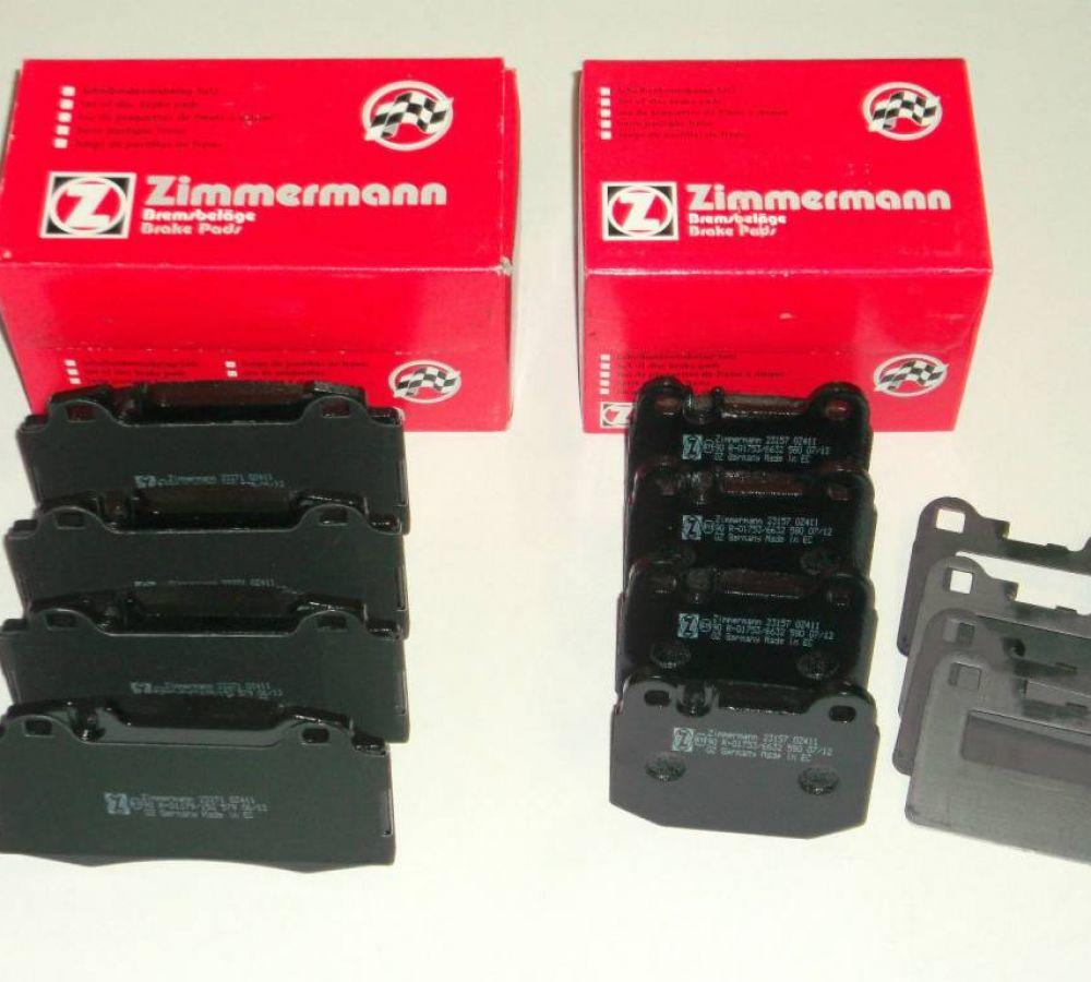 Brzdové platničky komplet predné + zadné MERCEDES ML 270 CDI 163 - ZIMMERMANN