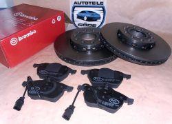 Brzdové kotouče přední Brembo (288mm) + destičky přední Audi A6 4B + C5