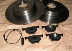 2x Brzdové kotúče + 1 sada brzdové platničky + snímač opotrebenia, BMW E31 zadná náprava
