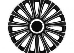 GÓRECKI Puklice LEMANS čierno-strieborné 15 - 4ks LEMANS15PRO