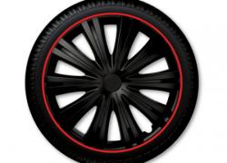 GORECKI Puklice GIGA čierno-červené 15 - 4ks GIGA15R