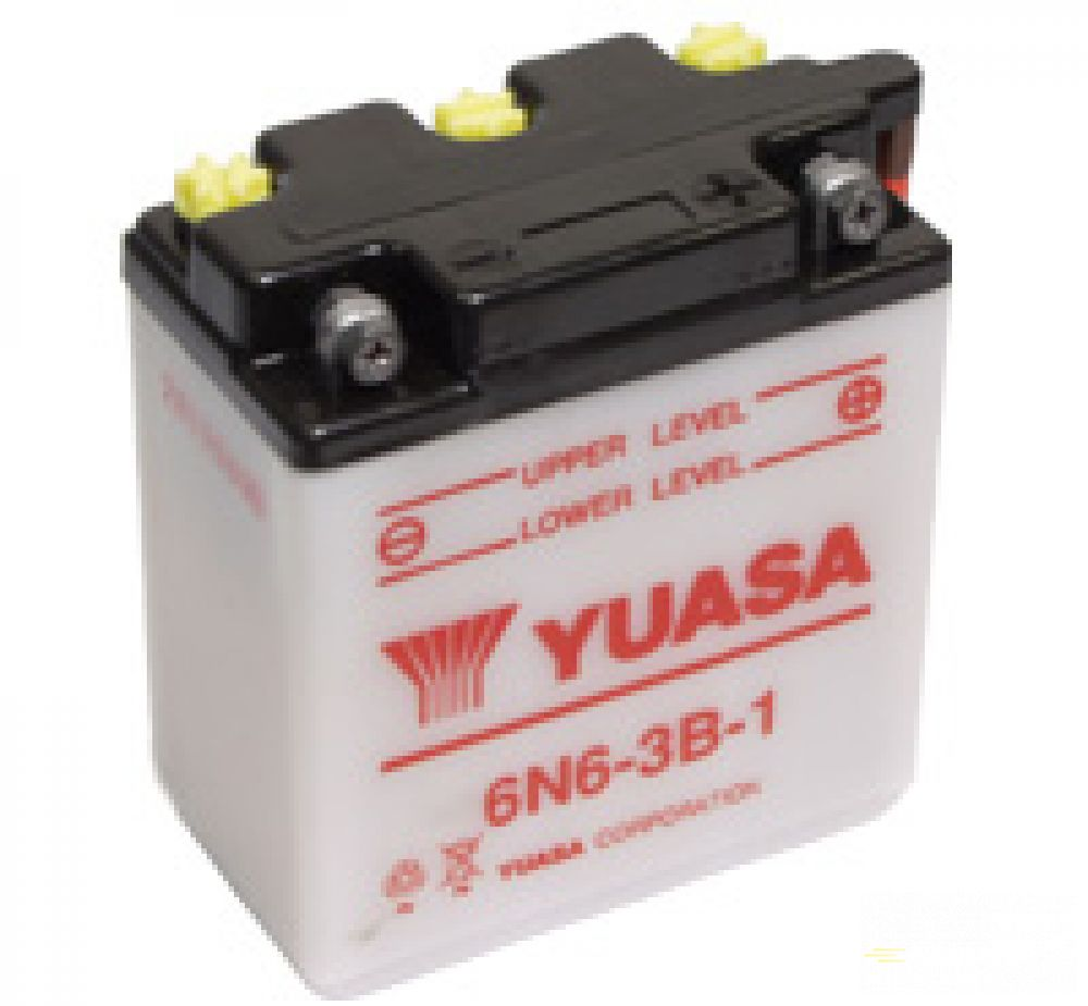 Moto batéria YUASA 6V/6Ah, 6N6-3B