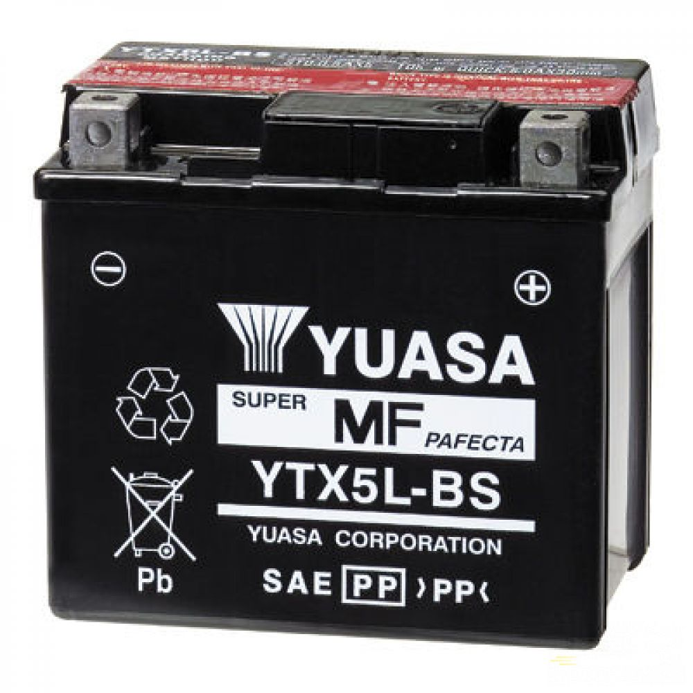 Moto batéria YUASA 12V YTX5L-BS 4Ah