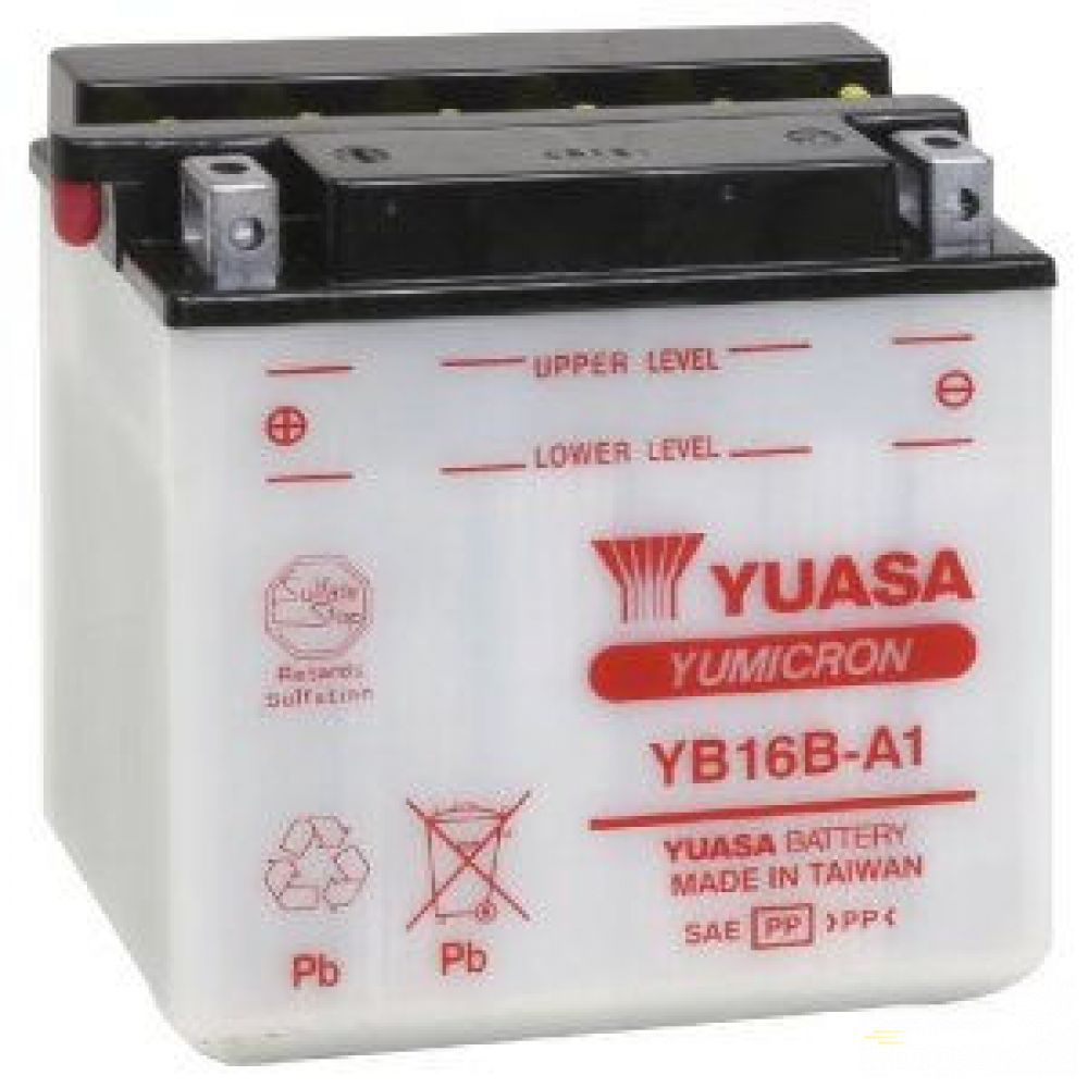 Moto batéria YUASA 12V YB16B-A1 16Ah