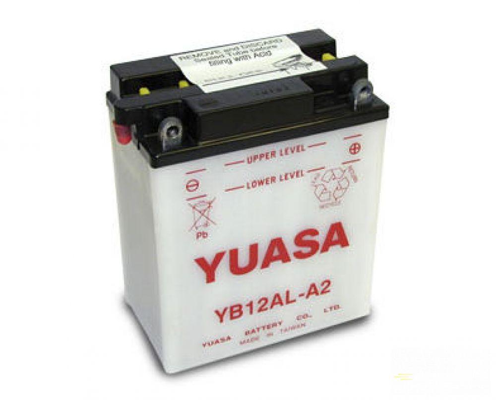 Moto batéria YUASA 12V YB12AL-A2