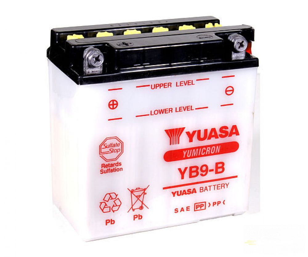 Moto batéria YUASA 12V YB9-B 9Ah