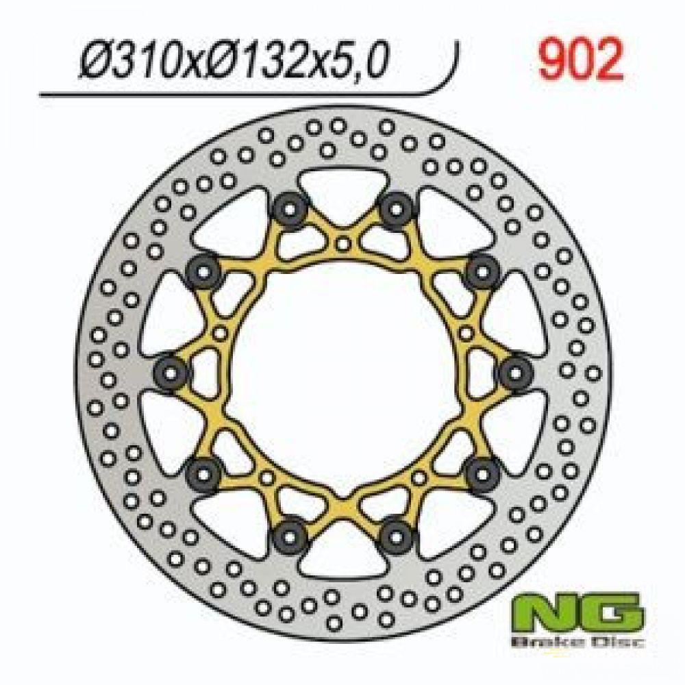 Brzdový kotúč pred. NG902 YAMAHA YZF-R 600/1000