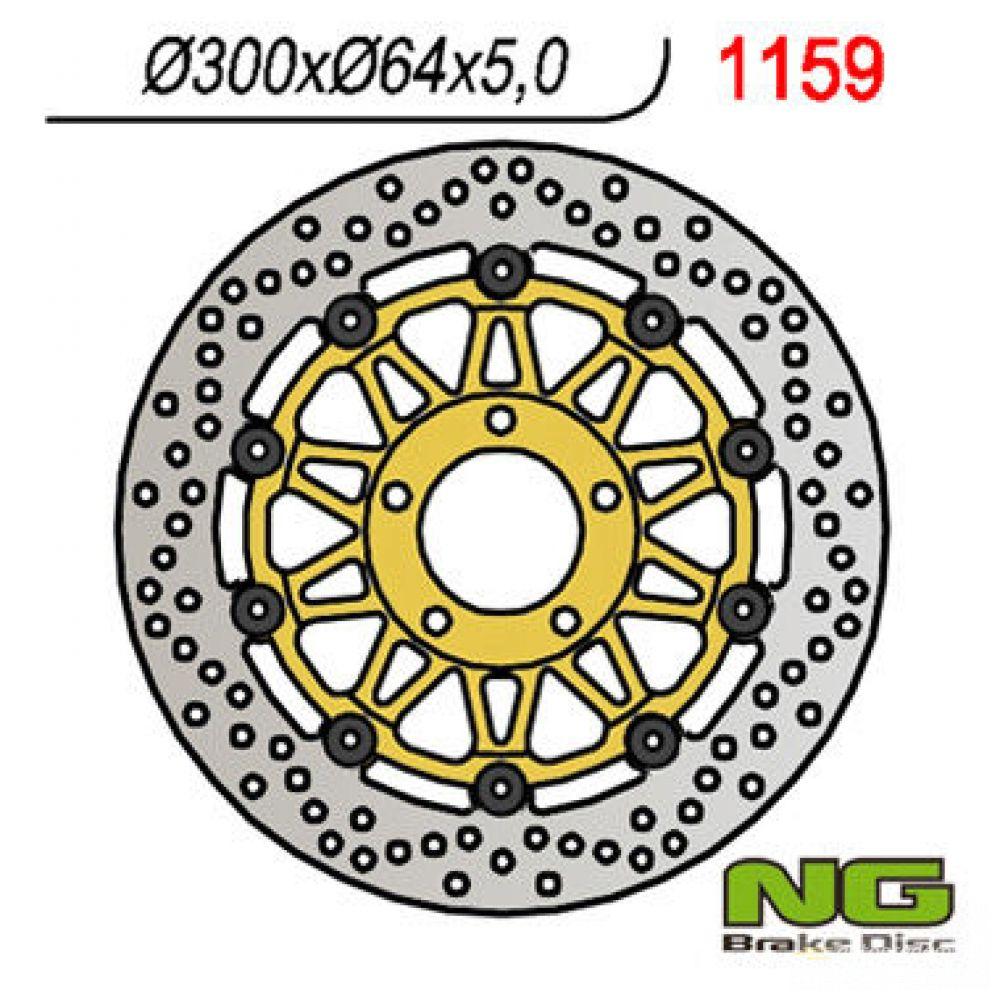 Brzdový kotúč pred. NG1159 SUZUKI RGV250, GSX, VZ 800 Marauder