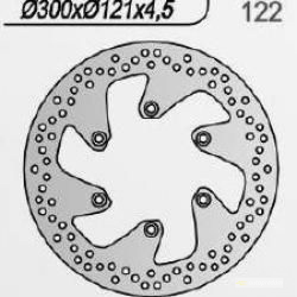 Brzdový kotúč pred. NG122  SUZUKI DR650, DR800, C800