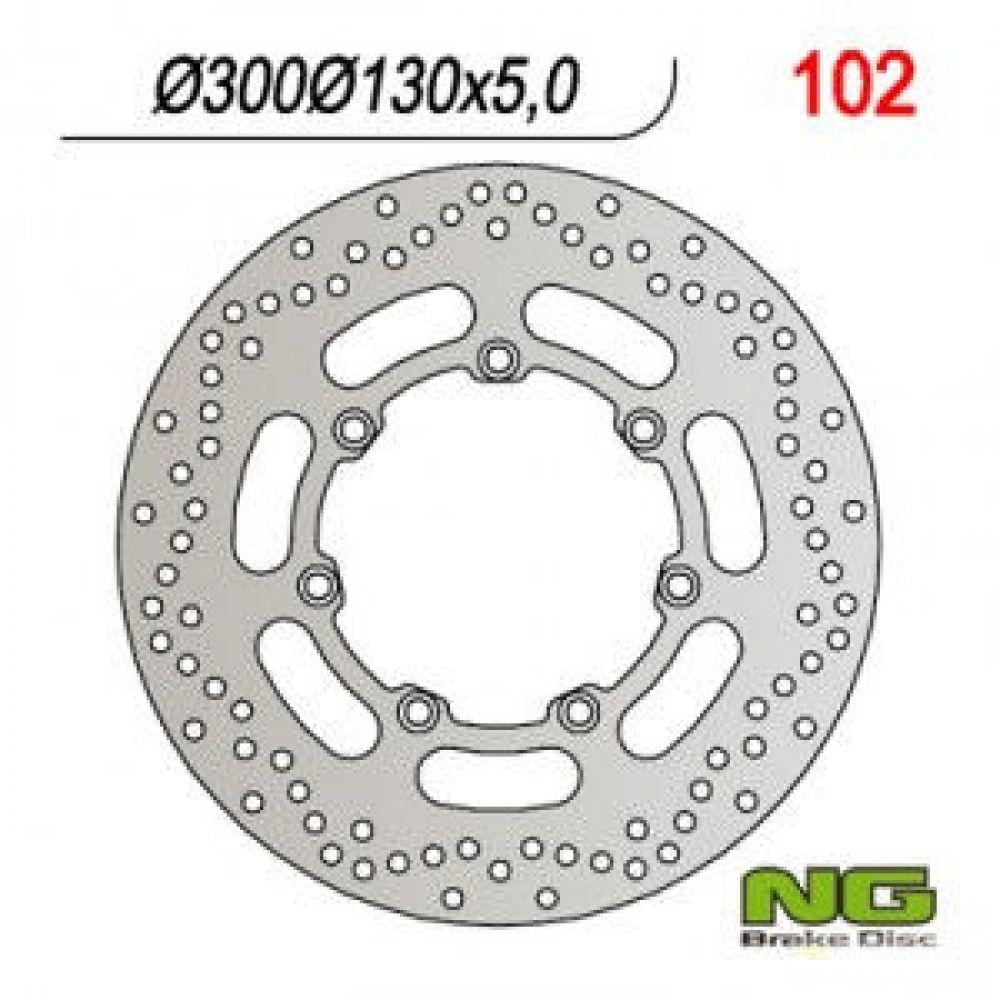 Brzdový kotúč pred. NG102   KAWASAKI EN500, VN800/1500/1600