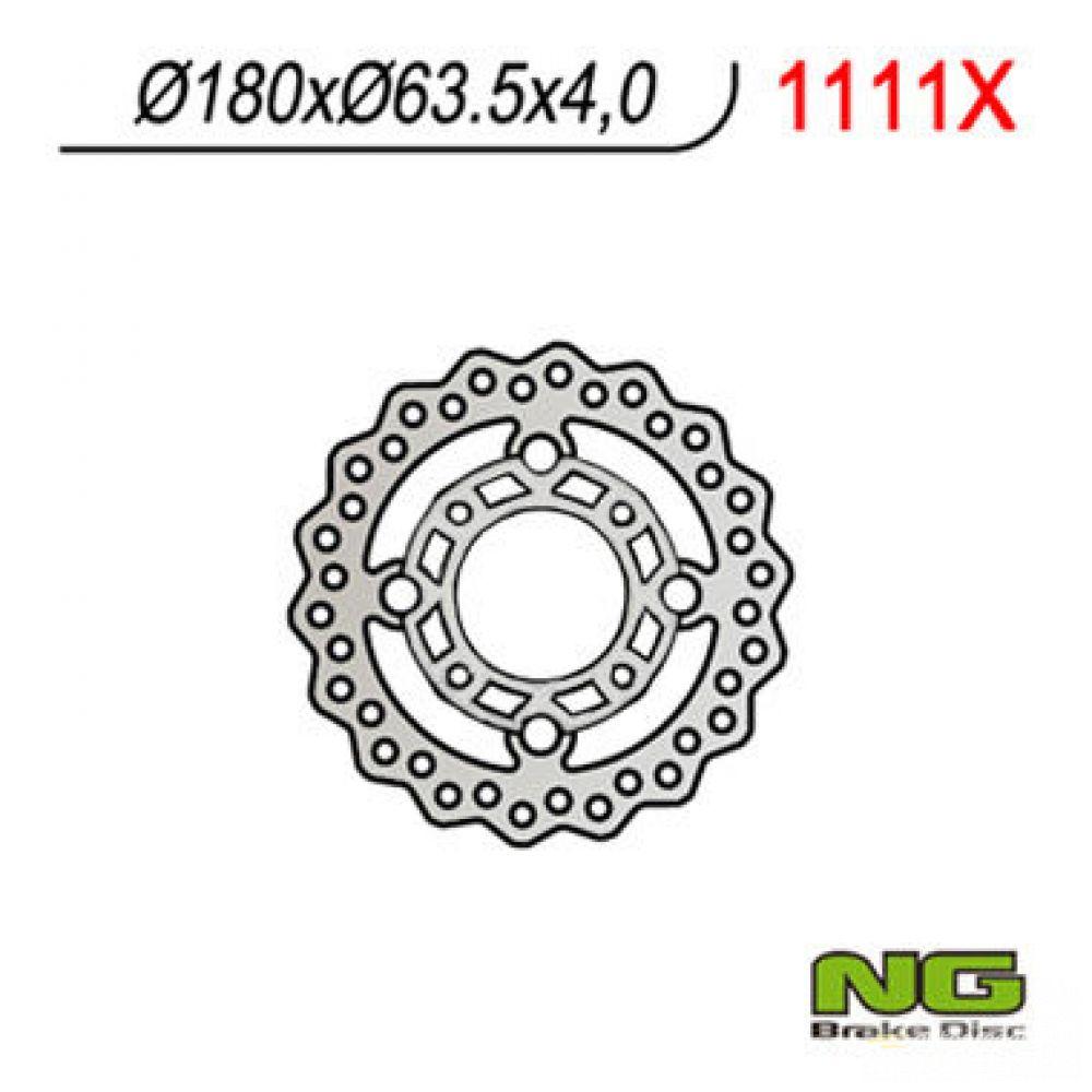 Brzdový kotúč pred. NG1111X KTM XC 450/525