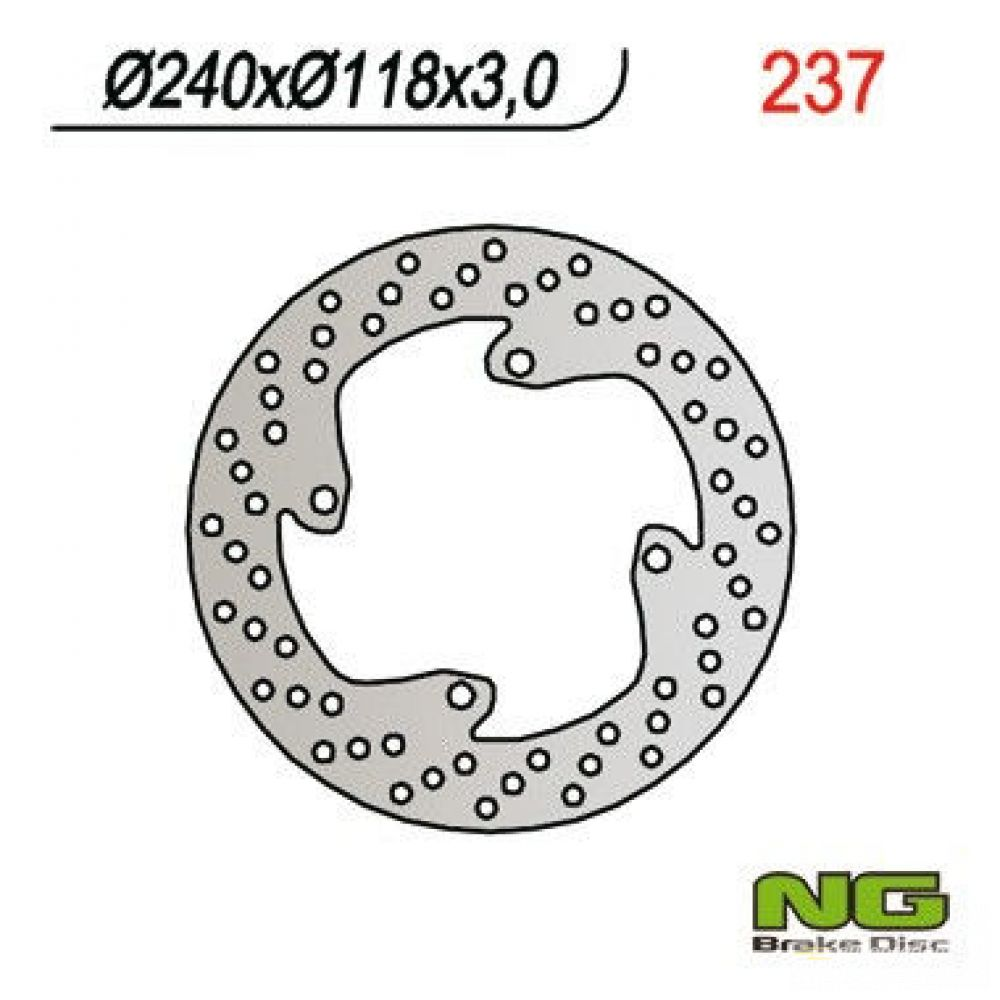 Brzdový kotúč pred. NG237 HONDA XLR 125, CR 250/500 R