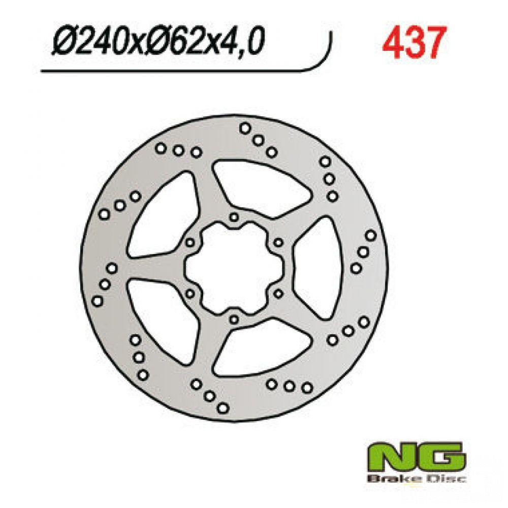 Brzdový kotúč pred. NG437 HONDA CRM 125R, MTX 125