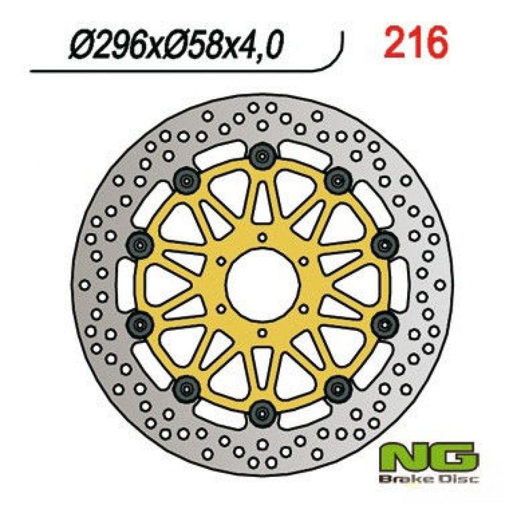 Brzdový kotúč pred. NG216 HONDA CBR 600/900, VFR 750, VTR 1000