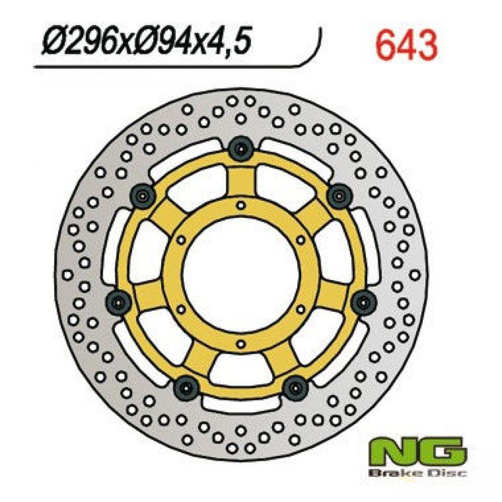 Brzdový kotúč pred. NG643 HONDA CBR 600, CBF 1000, CB, VFR