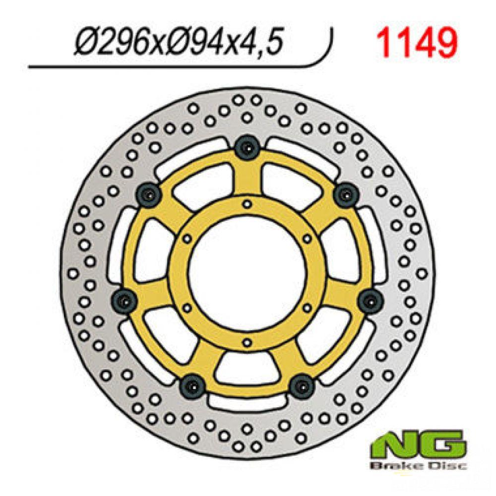 Brzdový kotúč pred. NG1149 HONDA CBF 600 N/S