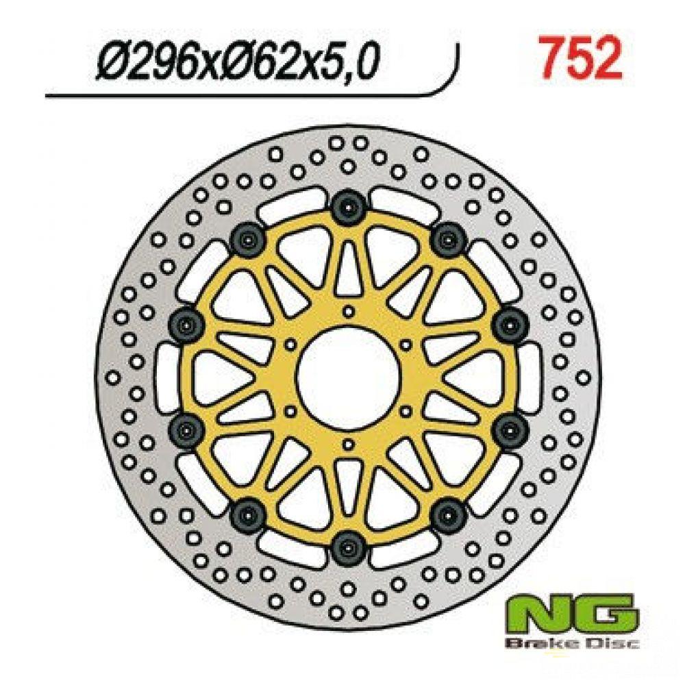 Brzdový kotúč pred. NG752 HONDA CBR 600/900, VFR, XL, GL