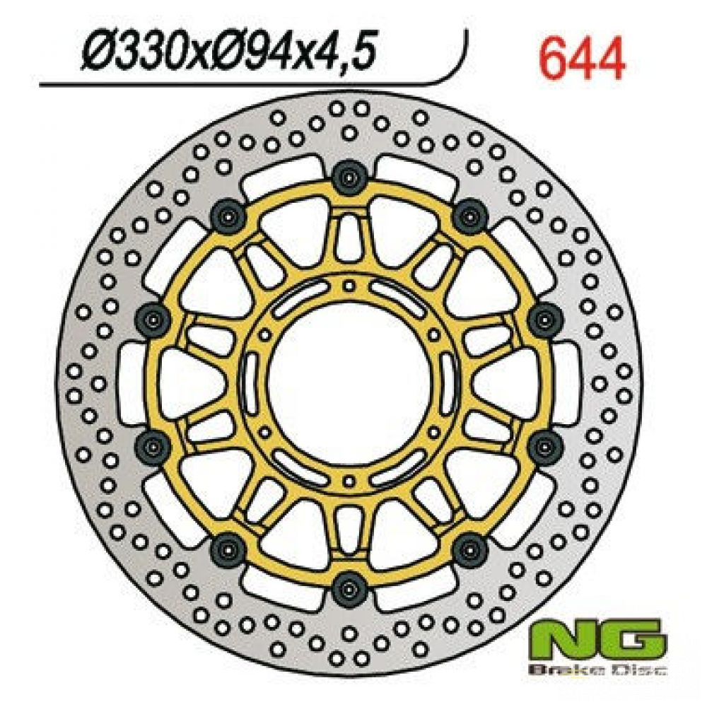 Brzdový kotúč pred. NG644 HONDA CBR 900 RR Fireblade