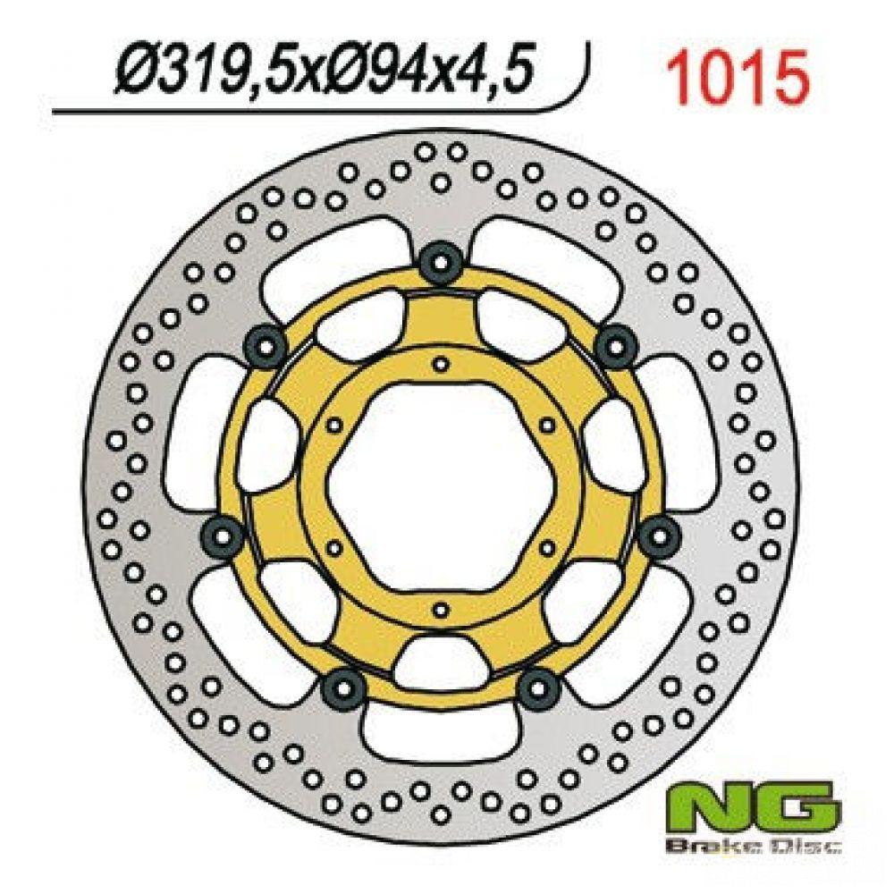 Brzdový kotúč pred. NG1015 HONDA VTR/CBR 10000