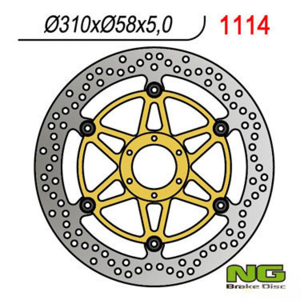 Brzdový kotúč pred. NG1114 HONDA CBR 1100 XX Super Blackbird