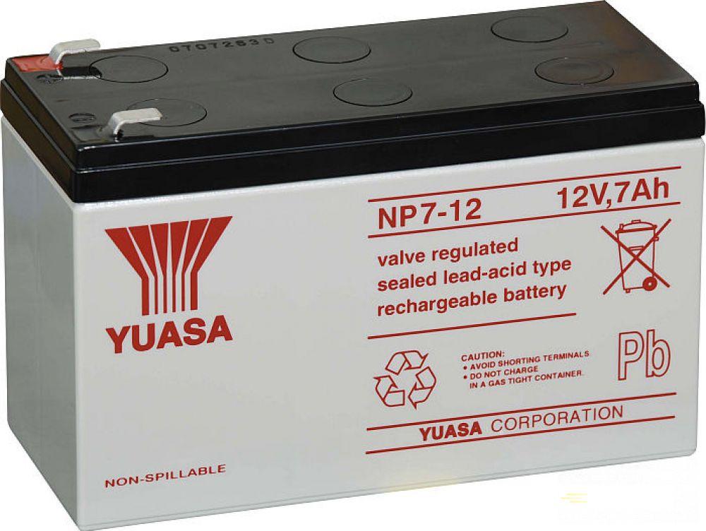 Moto batéria YUASA 12V NP7-12 7Ah