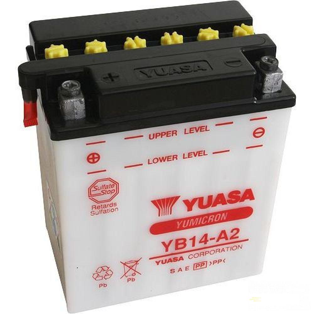 Moto batéria YUASA 12V YB14-A2 14 Ah