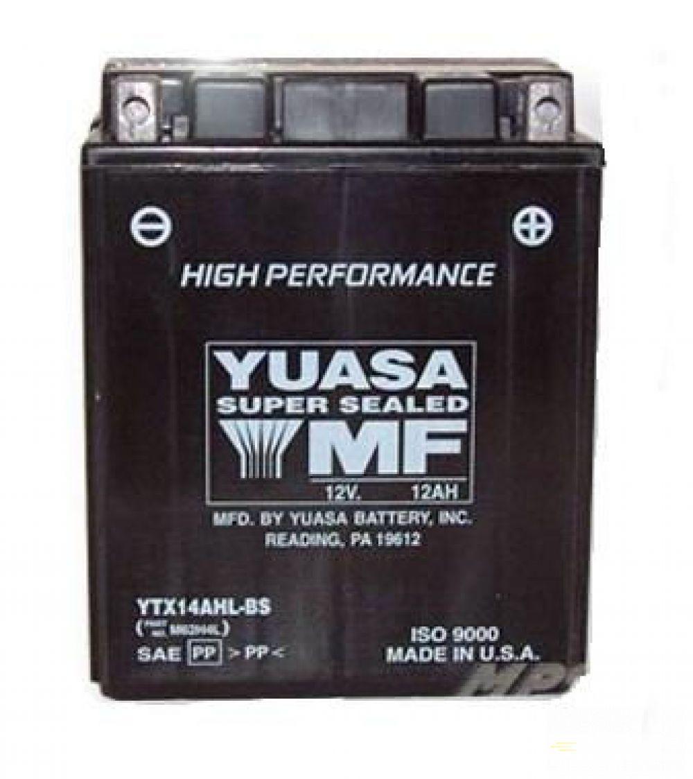 Moto batéria YUASA 12V YTX14AHL-BS