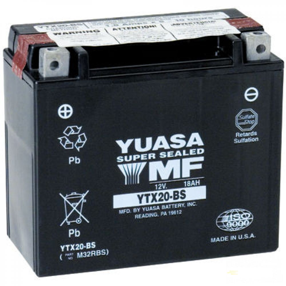 Moto batéria YUASA 12V YTX20-BS 18Ah