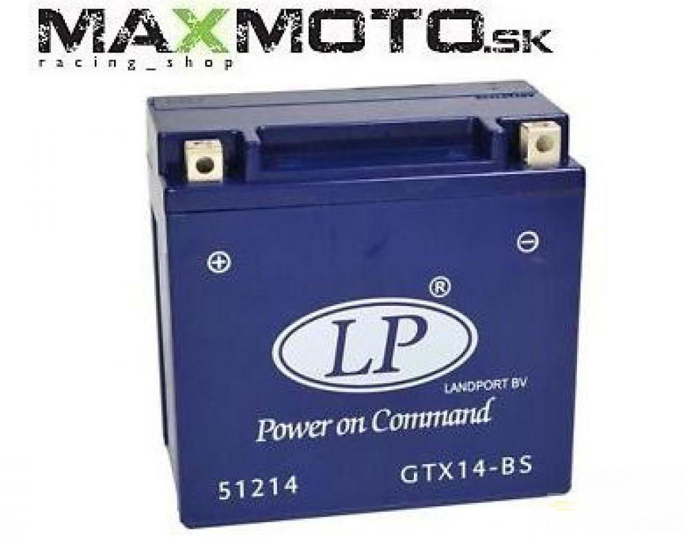 Batéria gélová LP GTX14-BS 12V 12AH 152x88x147