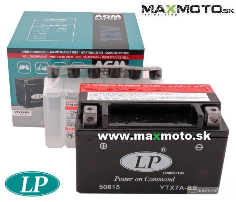 Batéria LP YTX7A-BS 12V, 6Ah, 152x88x94