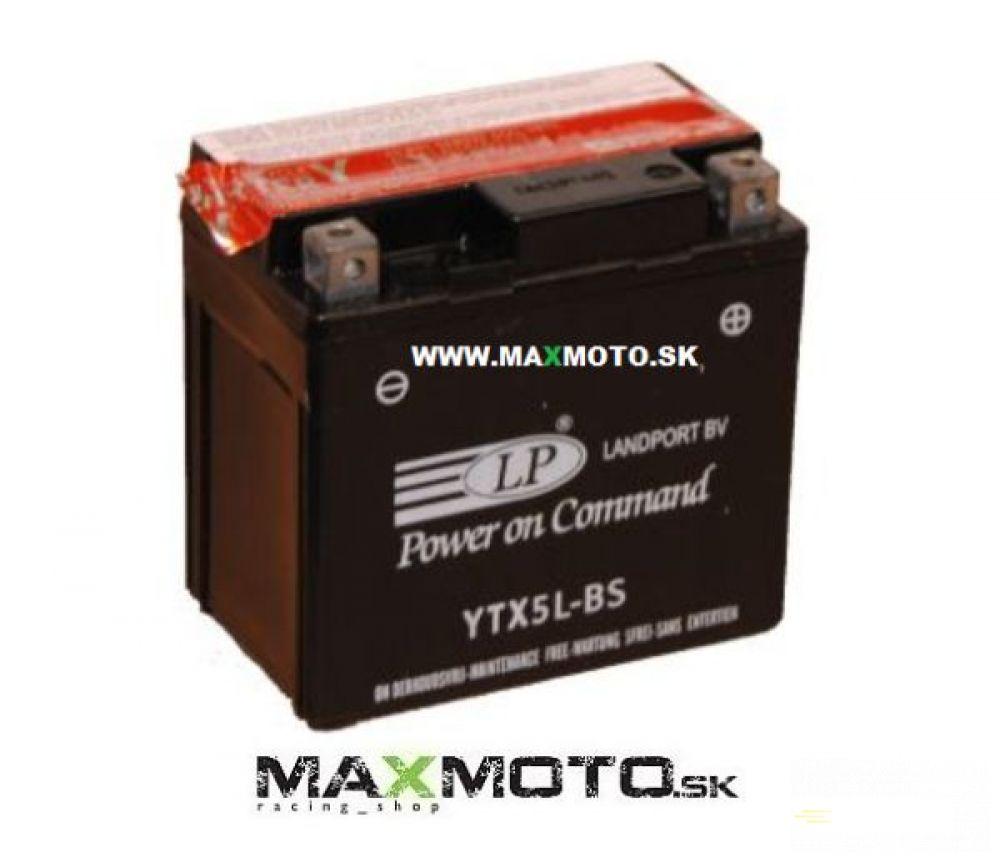 Batéria LP YTX5L-BS, 12V, 4Ah, 114x71x106