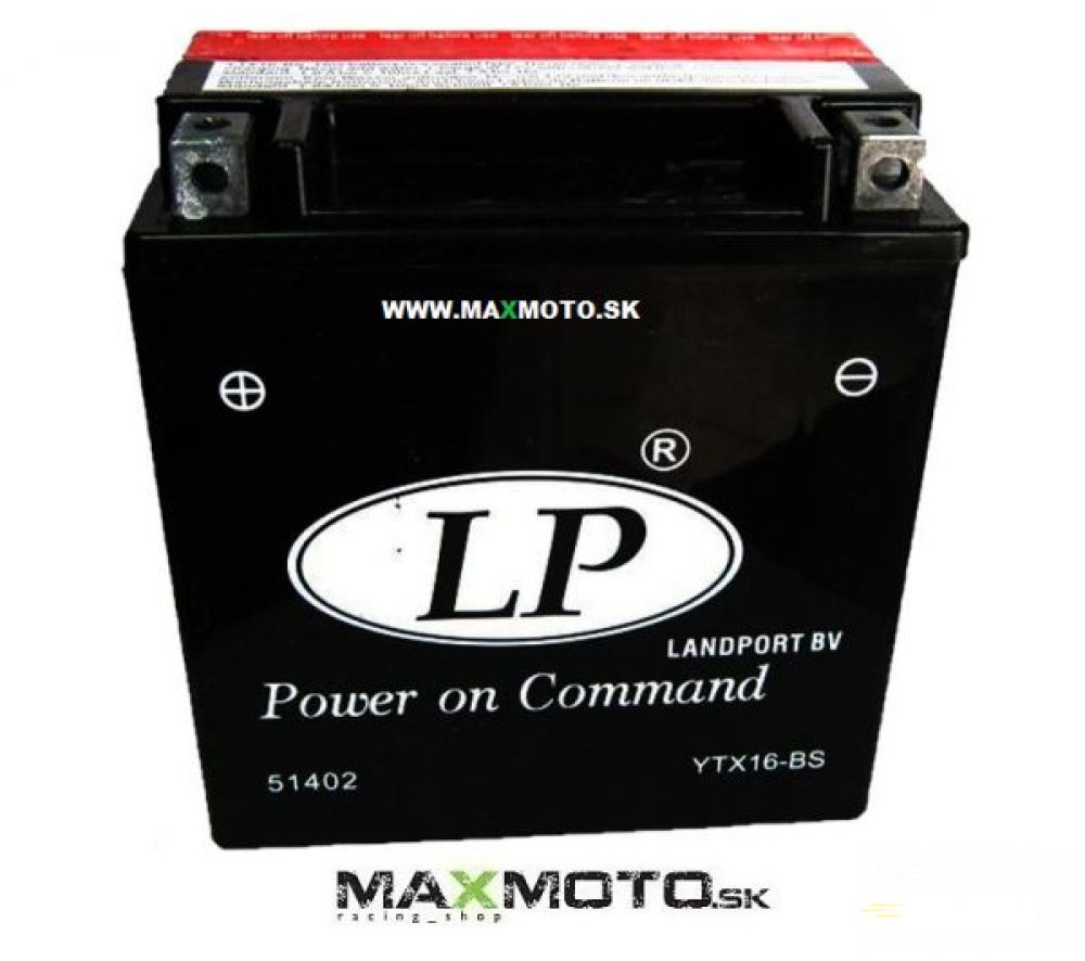 Batéria LP YTX16-BS, 12V, 14Ah, 152x88x161