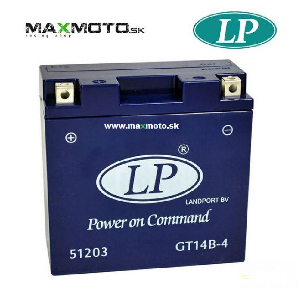 Batéria gélová LP GT14B-4 12V 12AH 150x69x145mm
