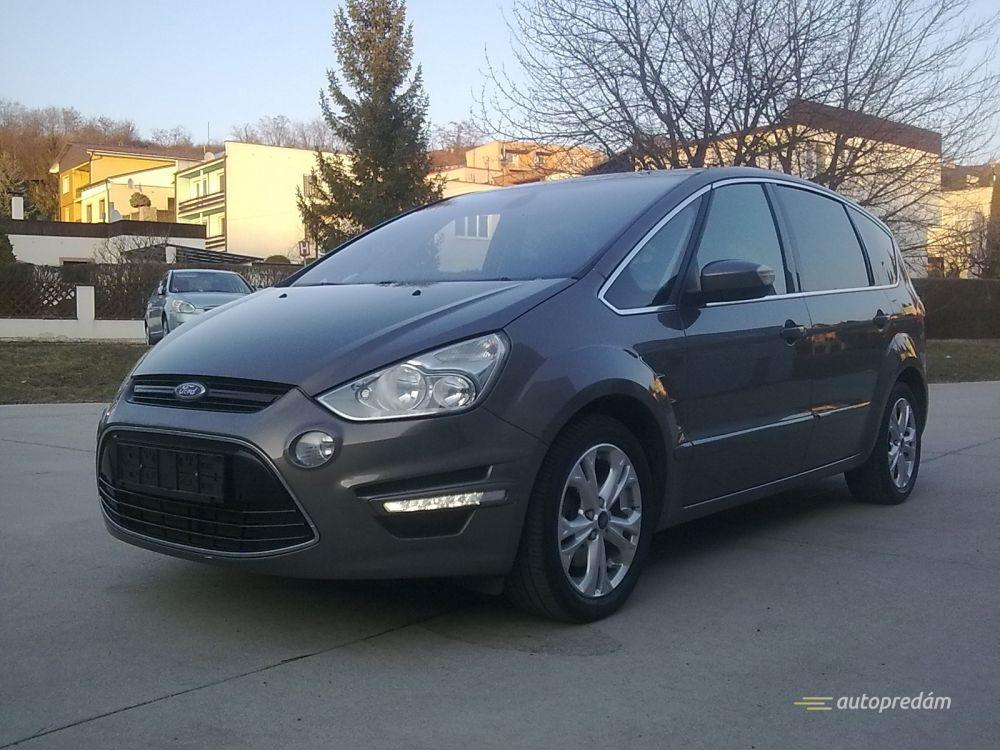 Ford S-Max TITANIUM 2,0TDCI 120kW/163k, polokoža, hnedá met.