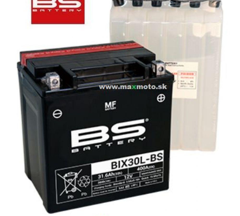 Batéria BS BIX30L-BS 12V 30Ah, 166x126x173, elektrolytová