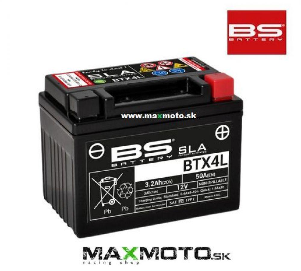 Batéria BS BTX4L, 12V, 3Ah, 114x71x86