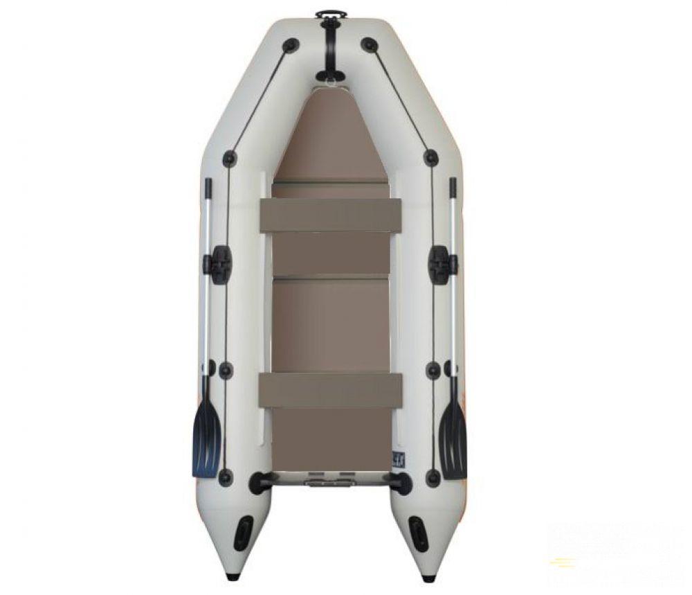 KOLIBRI KM-330P nafukovací čln s pevnou skladacou podlahou-sivý